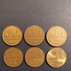 Monedas antiguas de Europa: FRANCIA 6 MONEDAS 6 FECHAS 10 FRANCS. Lote 188818293