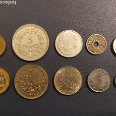 Monedas antiguas de Europa: FRANCIA 10 MONEDAS 10 MODELOS.. Lote 188819093