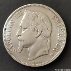 Monedas antiguas de Europa: FRANCIA NAPOLEON III 5 FRANCOS PLATA 1868 BB. Lote 189317037