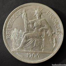 Monnaies anciennes de France: REPÚBLICA FRANCESA INDOCHINA PIASTRA PLATA 1906. Lote 189317480