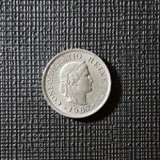 Monedas antiguas de Europa: SUIZA 5 RAPPEN 1967 KM26.. Lote 189434095