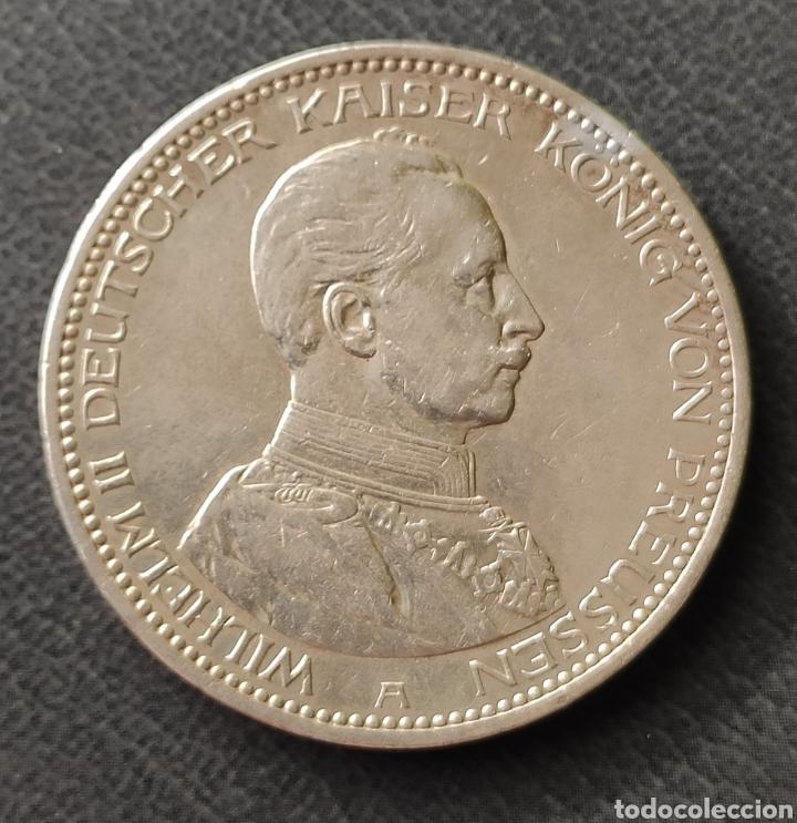 ALEMANIA PRUSIA 5 MARCOS PLATA 1913 A (Numismática - Extranjeras - Europa)