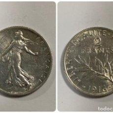 Monedas antiguas de Europa: FRANCIA. 2 FRANCOS. MONEDA DE PLATA. 1916. VER FOTOS.. Lote 213502392