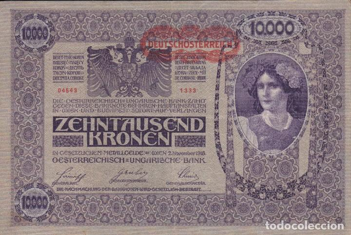 BILLETE ALEMANIA 1918 DE 10000 MARCOS (Numismática - Extranjeras - Europa)
