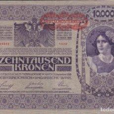 Monedas antiguas de Europa: BILLETE ALEMANIA 1918 DE 10000 MARCOS . Lote 190142768