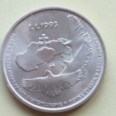 Monedas antiguas de Europa: ESLOVAQUIA 100 CORONAS DE PLATA 1993. Lote 190235242