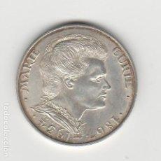 Monedas antiguas de Europa: FRANCIA- 100 FRANCOS- 1984-MARIE CURIE-PLATA-SC. Lote 190392465