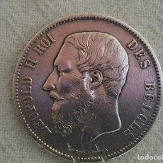Monedas antiguas de Europa: BELGIUM - 5 FRANCS 1870 - MBC - PLATA 900. Lote 190493430