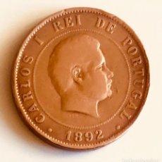 Monedas antiguas de Europa: 20 REÍS BRONCE CARLOS I PORTUGAL 1892. Lote 190644813