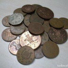Monedas antiguas de Europa: PENIQUES. LOTE DE 28 MONEDAS. REINO UNIDO. AÑOS DE FABRICACIÓN DESDE 1970 HASTA 1990.. Lote 190733626