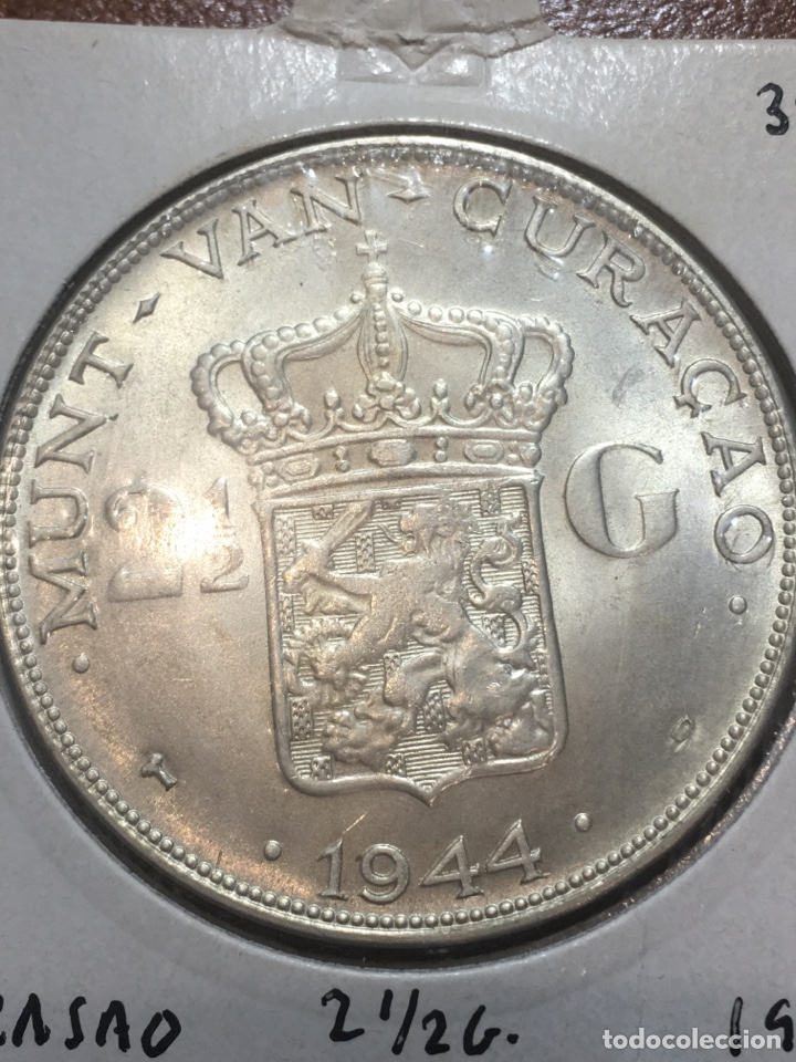MONEDA PLATA CURASAO 1944 2 1/2 GULDE (Numismática - Extranjeras - Europa)