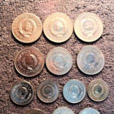 Monedas antiguas de Europa: YUGOSLAVIA - LOTE DE 12 MONEDAS (VER DESCRIPCION). Lote 191001823