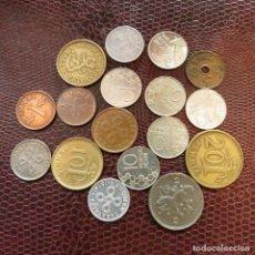 Monedas antiguas de Europa: FINLANDIA 17 MONEDAS TODAS DIFERENTES 1 5 10 20 PENNI 1 MARKKAA 1941 - 1996 FI-3. Lote 191010093