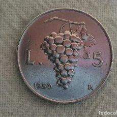 Monedas antiguas de Europa: ITALIA - 5 LIRE 1950 - EBC/EF. Lote 191120237