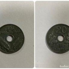 Monedas antiguas de Europa: MONEDA DE FRANCIA. 20 CENTIMES. 20 CENTIMOS. 1941. VER FOTOS. . Lote 191156307