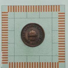 Monedas antiguas de Europa: 2 FILLER, HUNGRIA. 1897. (KM#481). Lote 191200117