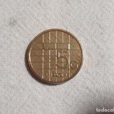 Monedas antiguas de Europa: NETHERLANDS - 5 GULDEN 1990 - EBC/EF. Lote 191328628