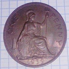 Monedas antiguas de Europa: GRAN BRETAÑA. 1 PENNY 1939. SC. . Lote 191333082