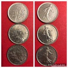 Monedas antiguas de Europa: LOTE 3 MONEDAS 5 FRANCS FRANCIA. MBC. Lote 191372725