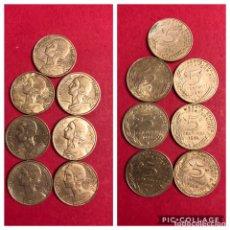 Monedas antiguas de Europa: LOTE 7 MONEDAS 5 CENTIMES FRANCIA MBC. Lote 191377598