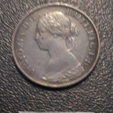 Monedas antiguas de Europa: GRAN BRETAÑA FARTHING 1865. Lote 191463983