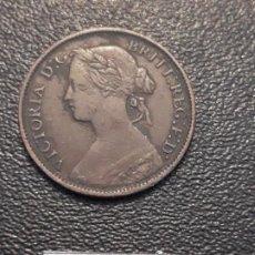 Monedas antiguas de Europa: GRAN BRETAÑA FARTHING 1860. Lote 191464411