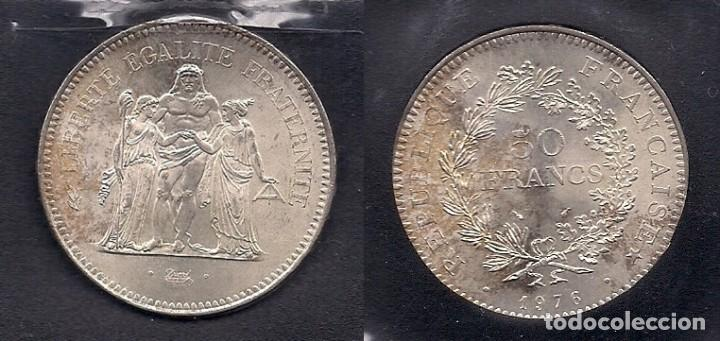 FRANCIA - 50 FRANCOS - 50 FRANCS DE PLATA DE 1976 (Numismática - Extranjeras - Europa)