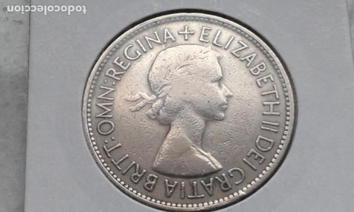 Monedas antiguas de Europa: INGLATERRA/REINO UNIDO/GRAN BRETAÑA 1/2 CORONA 1953 - Foto 2 - 191922463