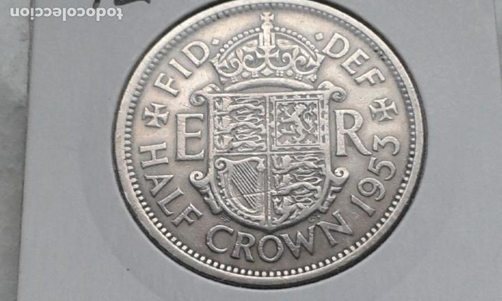 INGLATERRA/REINO UNIDO/GRAN BRETAÑA 1/2 CORONA 1953 (Numismática - Extranjeras - Europa)