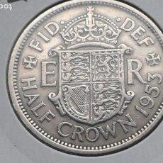 Monedas antiguas de Europa: INGLATERRA/REINO UNIDO/GRAN BRETAÑA 1/2 CORONA 1953. Lote 191922463