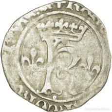 Monedas antiguas de Europa: MONEDA, FRANCIA, CHARLES VIII, KAROLUS OR DIZAIN, LYON - LUGDUNUM, BC+, VELLÓN. Lote 191926310
