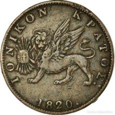 Monedas antiguas de Europa: MONEDA, ISLAS JÓNICAS, BRITANNIA, 2 LEPTA, 1820, MBC, COBRE, KM:31. Lote 191927561