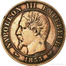 Monedas antiguas de Europa: MONEDA, FRANCIA, NAPOLEON III, NAPOLÉON III, 5 CENTIMES, 1855, ROUEN, BC+. Lote 191930388