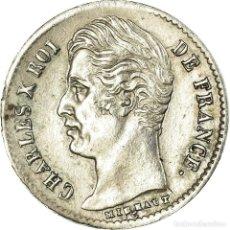 Monedas antiguas de Europa: MONEDA, FRANCIA, CHARLES X, 1/4 FRANC, 1829, ROUEN, EBC, PLATA, KM:722.2. Lote 191930393