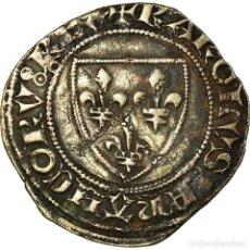 Monedas antiguas de Europa: MONEDA, FRANCIA, CHARLES VI, BLANC GUÉNAR, TOURNAI, MBC, VELLÓN, DUPLESSY:377A. Lote 191931163