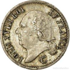 Monedas antiguas de Europa: MONEDA, FRANCIA, LOUIS XVIII, LOUIS XVIII, 1/4 FRANC, 1824, ROUEN, MBC+, PLATA. Lote 191931183