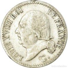 Monedas antiguas de Europa: MONEDA, FRANCIA, LOUIS XVIII, LOUIS XVIII, 1/4 FRANC, 1817, PARIS, MBC, PLATA. Lote 191931798
