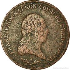 Monedas antiguas de Europa: MONEDA, AUSTRIA, FRANZ II (I), 6 KREUZER, 1800, BC+, COBRE, KM:2128. Lote 191931805