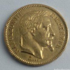 Monedas antiguas de Europa: 20 FRANCOS DE ORO NAPOLEÓN III FRANCIA 1865. Lote 192751918