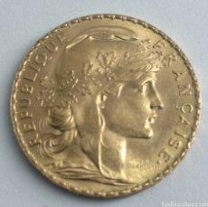 Monedas antiguas de Europa: 20 FRANCOS DE ORO REPÚBLICA FRANCESA 1909. Lote 192754208