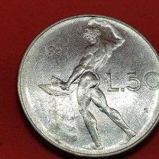 Monedas antiguas de Europa: ITALIA 50 LIRAS 1977. Lote 193362287