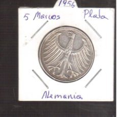 Monedas antiguas de Europa: MONEDA DE PLATA ALEMANIA 5 MARCOS 1956 LA QUE VES PLATA . Lote 193847488