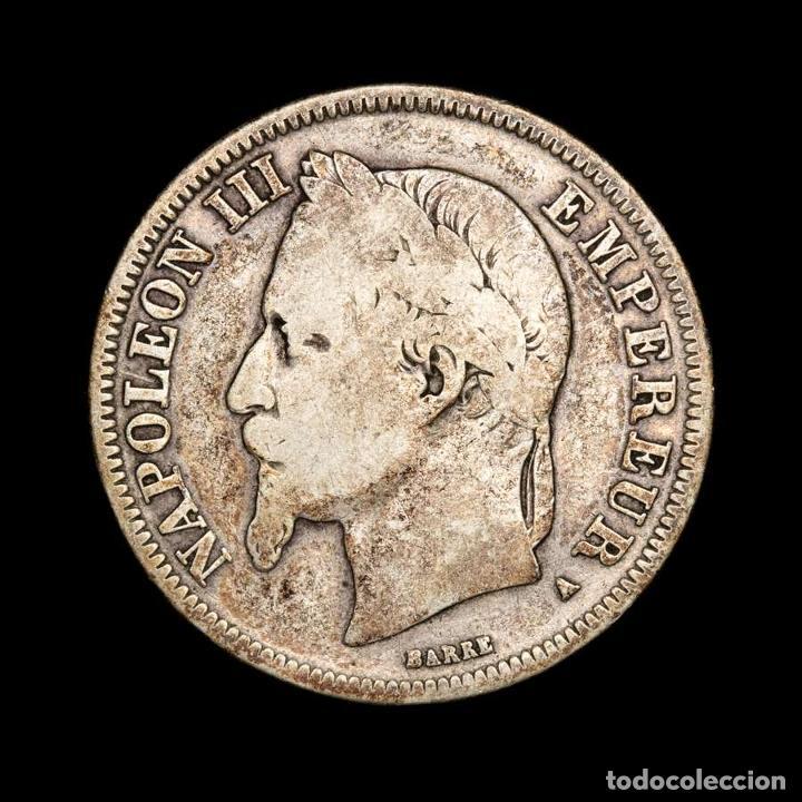 Monedas antiguas de Europa: Francia - Napoleón III. 2 Francos. 1866. A. PLATA. - Foto 2 - 194011793