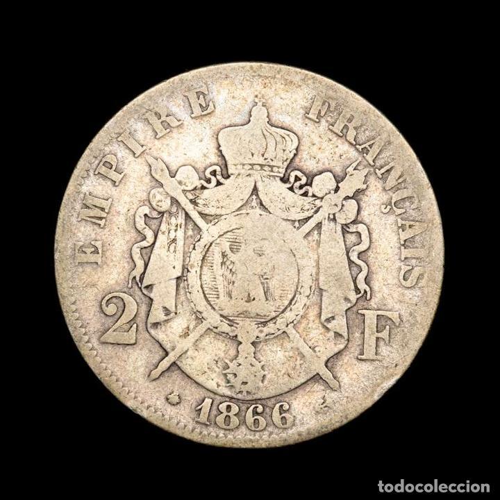 FRANCIA - NAPOLEÓN III. 2 FRANCOS. 1866. A. PLATA. (Numismática - Extranjeras - Europa)