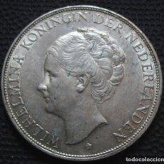 Monedas antiguas de Europa: PAISES BAJOS - HOLANDA 2 1/2 GULDEN 1929 -MODULO GRANDE- GUILERMINA I -PLATA-. Lote 194126576