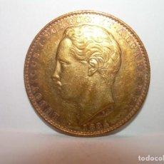 Monedas antiguas de Europa: MONEDA DE ORO..10.000 REIS...PORTUGAL 1884..LUDOVICUS I. PERFECTO ESTADO DE CONSERVACION.. Lote 194190838