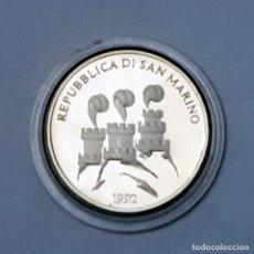 Monedas antiguas de Europa: 1000 LIRAS SAN MARINO 1992 OLIMPIADE 92 PLATA. Lote 194215571