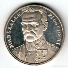 Monedas antiguas de Europa: POLONIA 100000 ZLOTYCH PLATA 1990 PROOF MARSZALEK . Lote 194217845