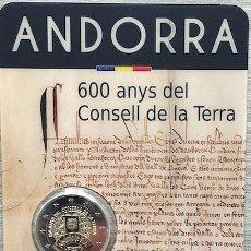 Monedas antiguas de Europa: ANDORRA 2019. COINCARD DE 2 EUROS CONMEMORATIVOS DE LOS 600 AÑOS DEL CONSELL DE LA TERRA. Lote 194224197