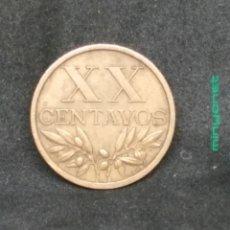 Monedas antiguas de Europa: MONEDA DE 20 CENTAVOS DE PORTUGAL DE 1961. Lote 194225791